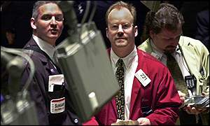 Trader on New York Stock Exchange