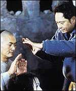 Ang Lee directing Crouching Tiger, Hidden Dragon