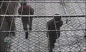 Prisoners exercise in the snowy yard of Nizhniy Novgorod prison in Russia