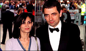 Narrow escape: Rowan Atkinson with wife Sunetra