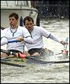 Cambridge man Colin Swainson (right) loses his oar
