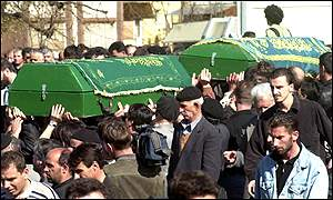 Funeral for two men killed by Macedonian police