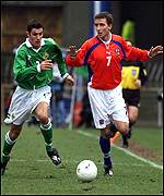 Vladimir Smicer and Aaron Hughes