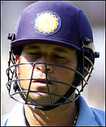 Sachin Tendulkar annoyed after being run out