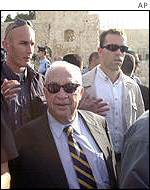 Ariel Sharon on his visit to disputed holy site