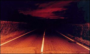 Paul Seawright's night-time view of the A470