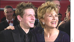 Julie Walters arrives with Jamie Bell