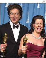 Benicio Del Toro and Marcia Gay Harden