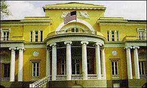 Spaso House in Moscow, official residence of the US ambassador