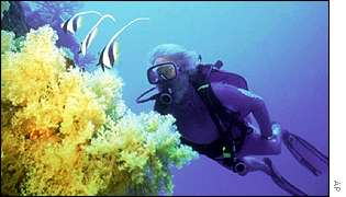 Coral reef off Fiji AP