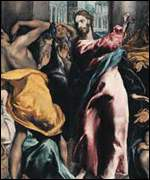 El Greco's Christ driving the traders from the Temple (Detail, The National Gallery)