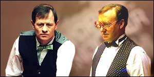 Alex Higgins and Dennis Taylor