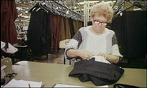 Woman in clothing factory