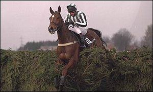 Tony Dobbin on Lord Gyllene in the 1997 Grand National