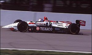 Michael Andretti drives in the Indianapolis 500