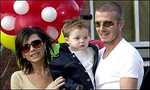 Victoria Brooklyn and David Beckham