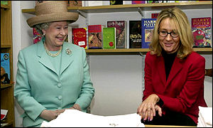 HM Queen meets Harry Potter author JK Rowling