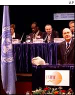President Chirac at The Hague AP