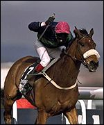 Mick Fitzgerald rides Rough Quest to victory in 1996