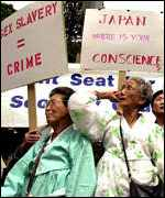 Comfort women campaigners protest