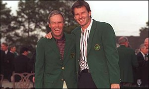 Ben Crenshaw and Nick Faldo