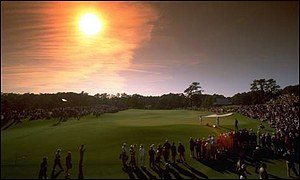 The sun sets on the 17th