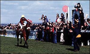 Red Rum wins his third Grand National