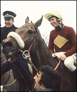 Red Rum and Brian Fletcher after the 1973 success
