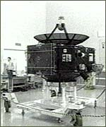 [ image: Probe carried by rocket]