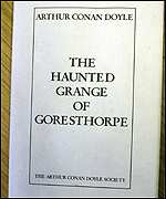 A copy of The Haunted Grange of Goresthorpe