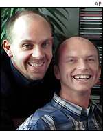Gay couple, Gert Kasteel (left) and Dolf Pasker