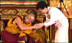 Dalai Lama and Annette Lu