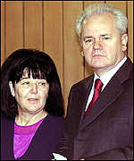 Sloboban Milosevic and wife Mira Markovic