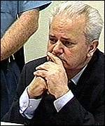 Mr Milosevic was stony-faced throughout his court appearance