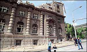 Belgrade building after Nato attack