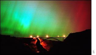 Luces de color en Twin Falls, Idaho.