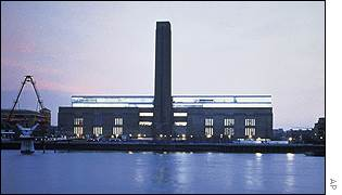 The Tate Modern art gallery on London's River Thames
