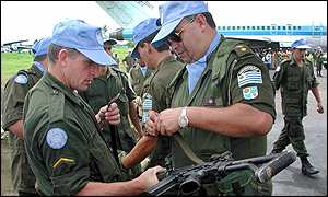 UN troops from Uruguay