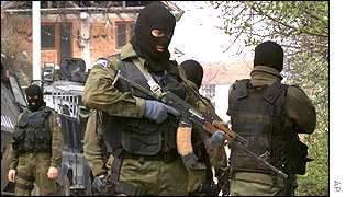 Macedonian special forces in Sipkovica village near Tetovo
