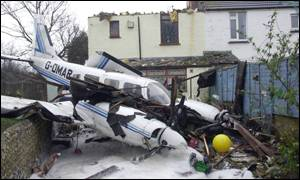 BBC News | UK | Pilot escapes plane crash unharmed