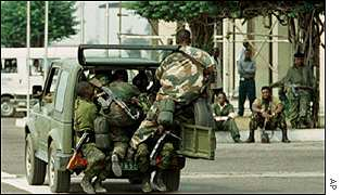 Troops in Kinshasa