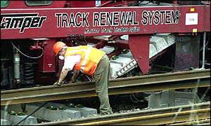 Track repairs following the Hatfield crash