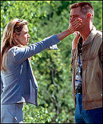 Renee Zellweger and Jim Carrey in Me, Myself & Irene