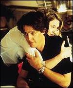 Hugh Grant as love rat Daniel Cleaver in Bridget Jones's Diary