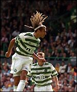 Henrik Larsson gets his second of the day