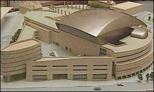 Scale model of the Wales Millennium Centre