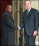 Joseph Kabila and French President Jacques Chirac