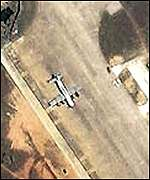 IKONOS satellite image of US downed surveillance plane