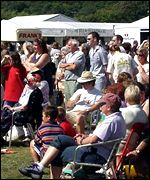 Crowds at the Urdd National Eisteddfod