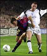 Jamie Carrager, right, Luis Enrique
